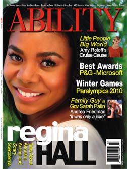 Regina Hall cover story for ABILITY Magazine