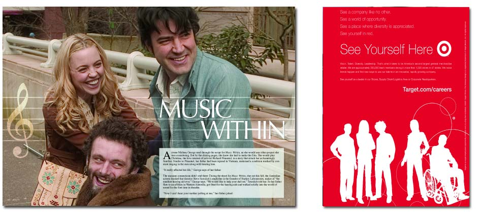 Ron Livingston - Music Within article